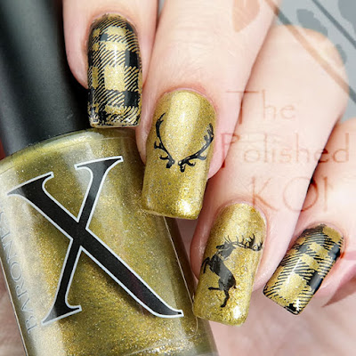 Baroness X Polish Ours is the Fury Nail Art Baratheon Stag