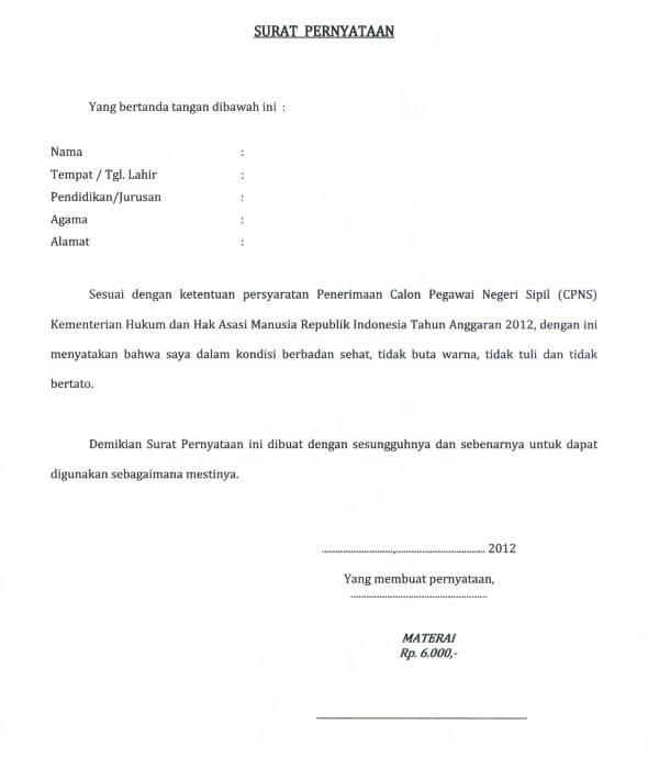 Surat Pernyataan Tidak Sedang Mencemari Lingkungan Ven Gian