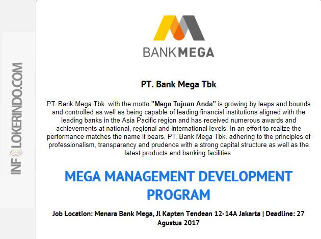 Lowongan Kerja Bank Mega 2017