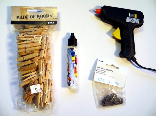 clothes pegs glue magnets