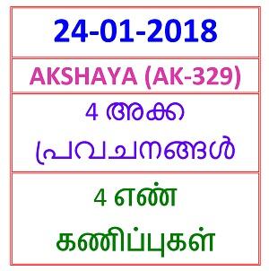 24-01-2018 4 NOS PREDICTION  AKSHAYA (AK-329)