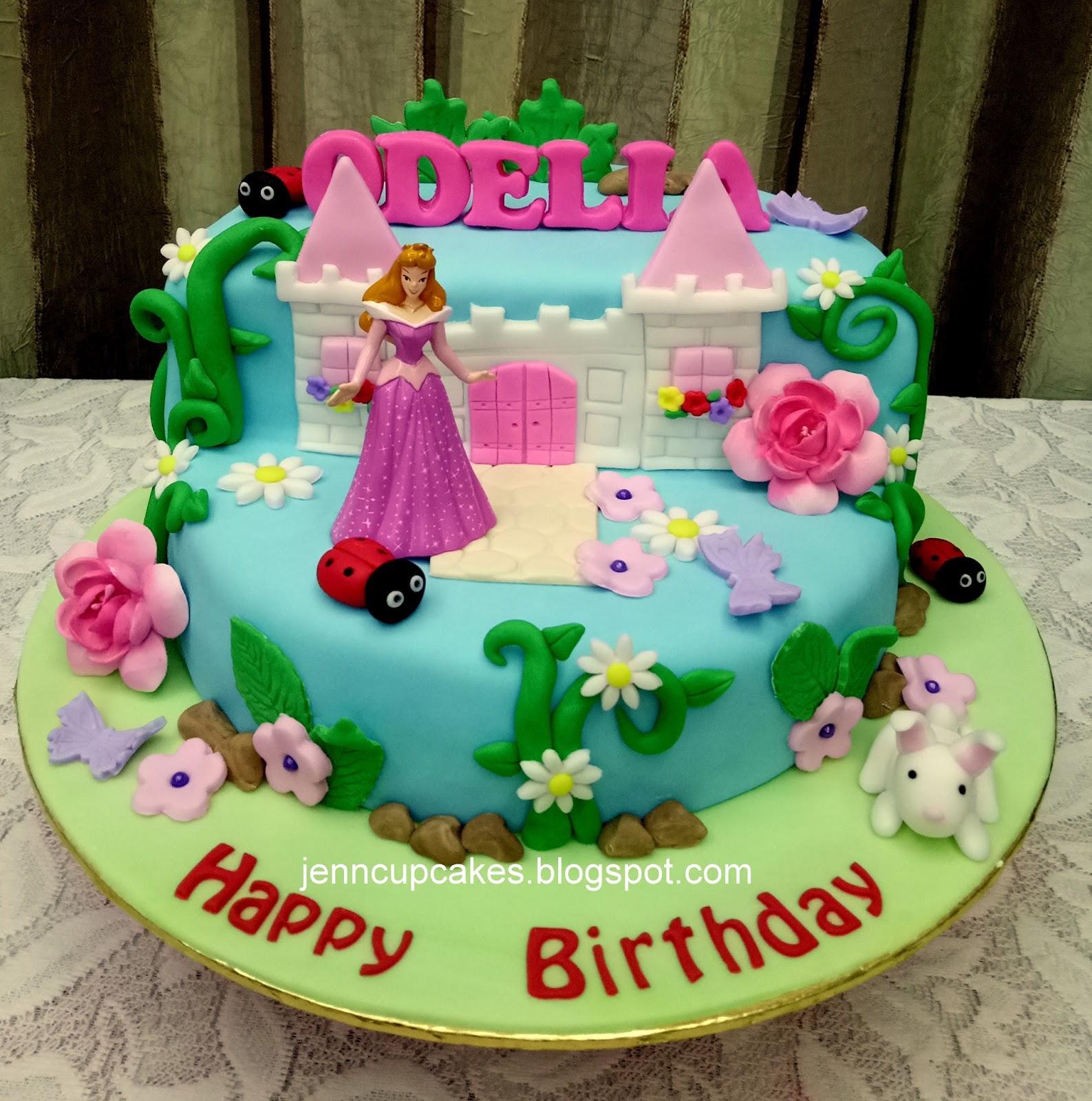 Jenn Cupcakes Muffins Princess Aurora Cake