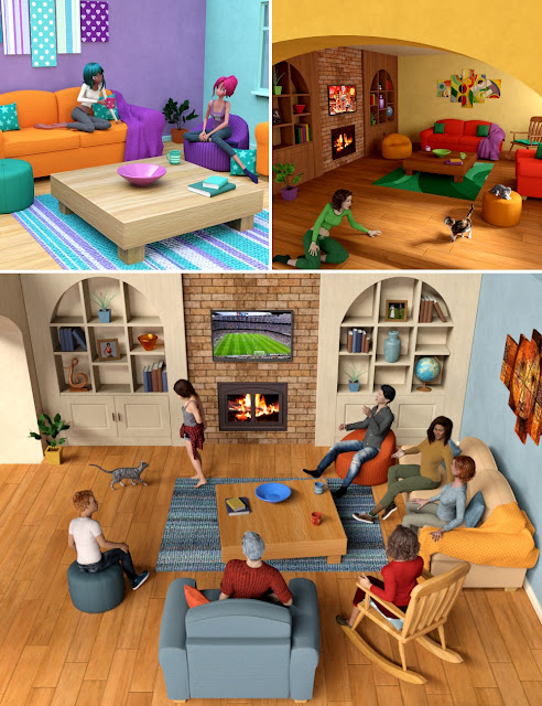 Download daz studio 3 for free daz 3d toon 2 real for Living room 2 for daz studio