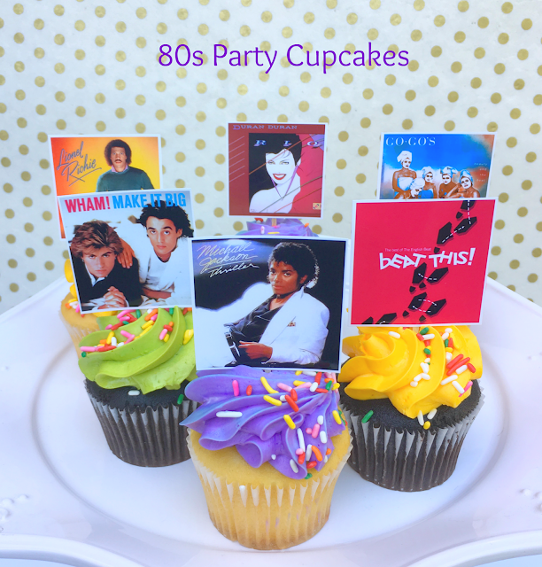 80s Party Cupcakes