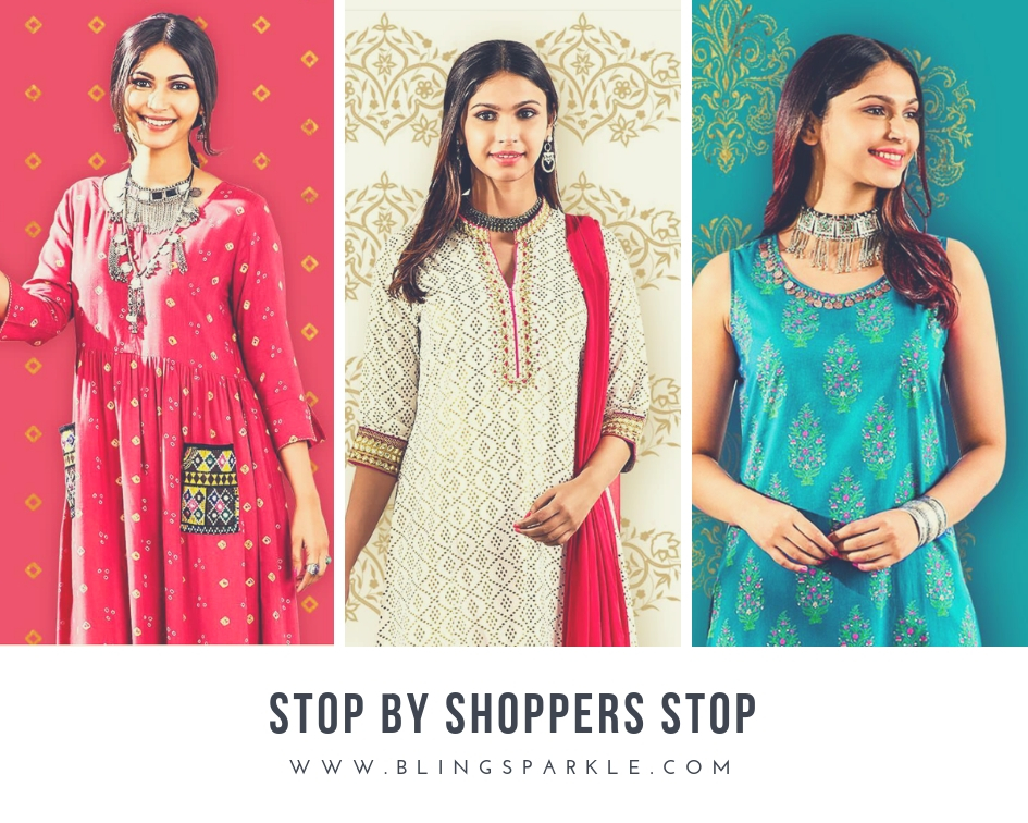 dbf8aa9bb One of Shopper's Stop's strongest brands, STOP offers a great range of  ethnic wear that include contemporary kurtas, clean silhouette Indian  suits, ...