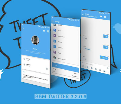 Download Tema BBM MOD Twitter v3.2.0.6 APK Versi Terbaru for Android