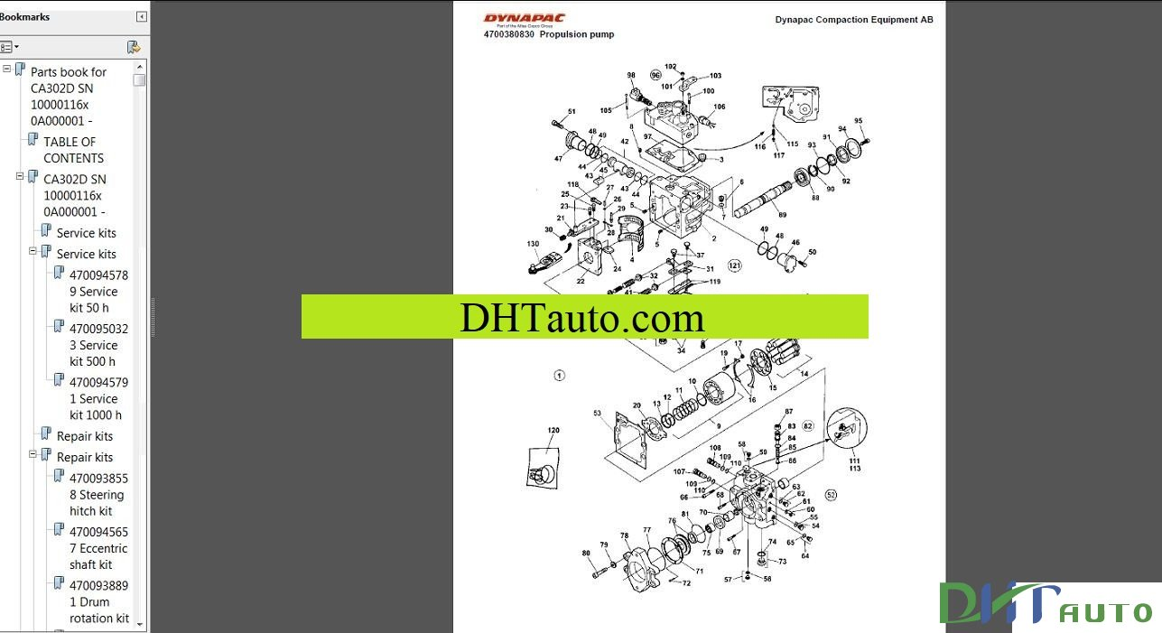 DYNAPAC SPARE PARTS CATALOGUE FULL - Automotive Library