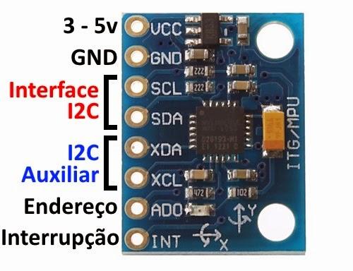 Pinos MPU-6050