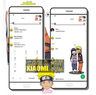 Cara Install/Pasang Thema Naruto Hinata di MIUI