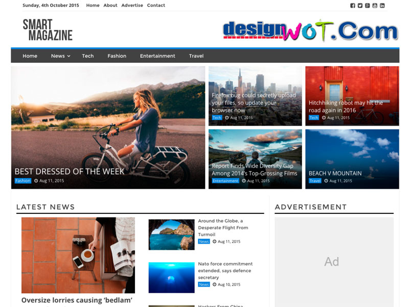 smart magazine WordPress theme