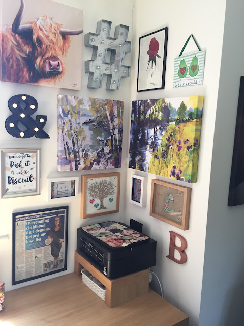 Mrs Bishop's office gallery wall