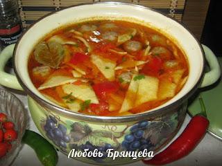 как приготовить суп с тестом