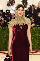 Priyanka Chopra in Maroon Velvet Gown at 2018 MET Costume Insute Gala ~  Exclusive 15.jpg