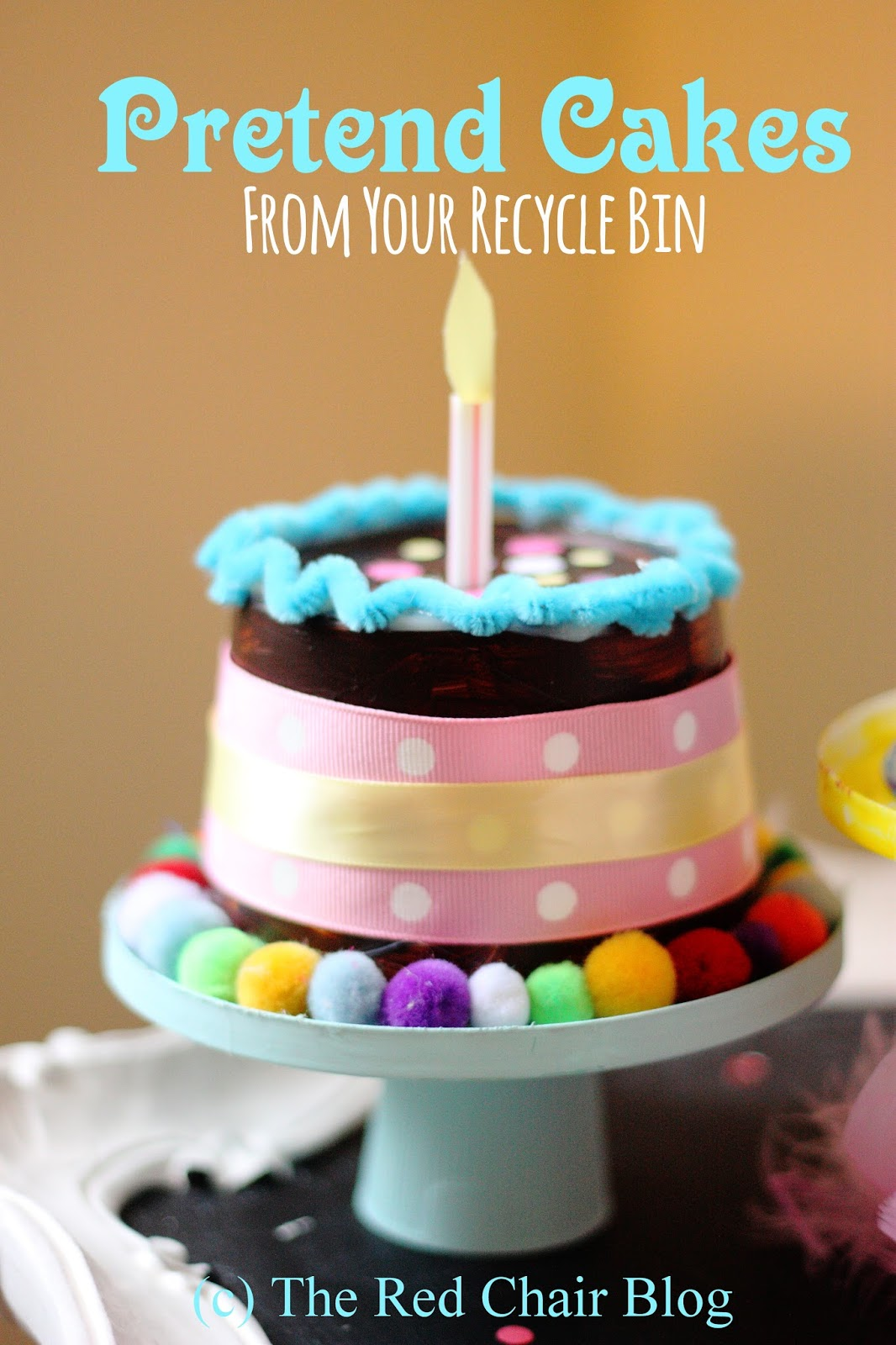 The Red Chair Blog Diy Play Cakes From Your Recycle Bin