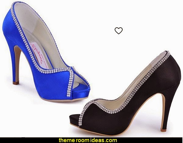 Women's Evening Prom Peep Toe Platform Satin Prom High Heel Wedding Bridal Shoes