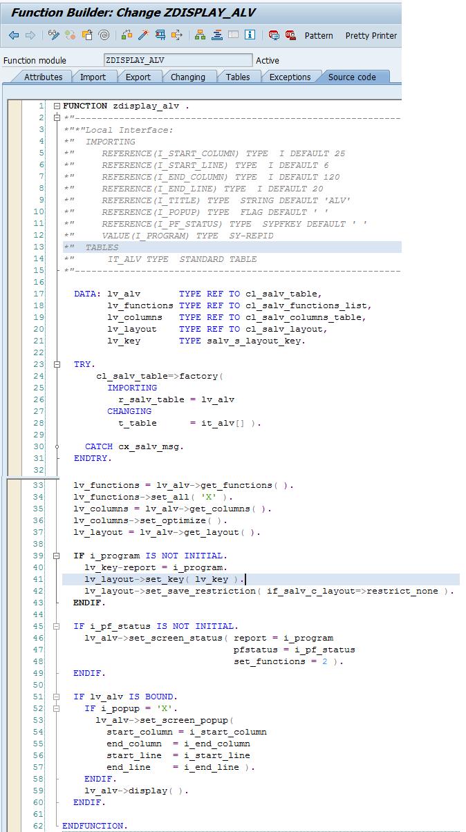 Sap Simple Re Usable Alv Grid Display Report Program