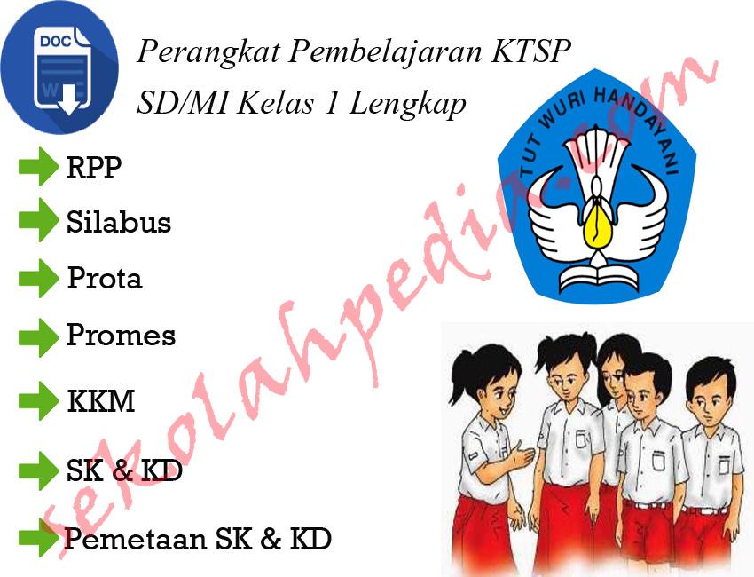 Perangkat Pembelajaran KTSP SD/MI Kelas 1 Lengkap