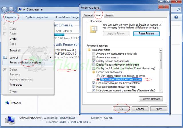 Cara Mudah Menyembunyikan File dan Folder di Windows 7 Agar Aman