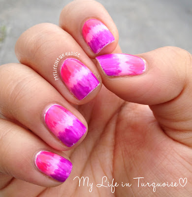 Pink-and-Purple-Brushed-Gradient-Nail-Art