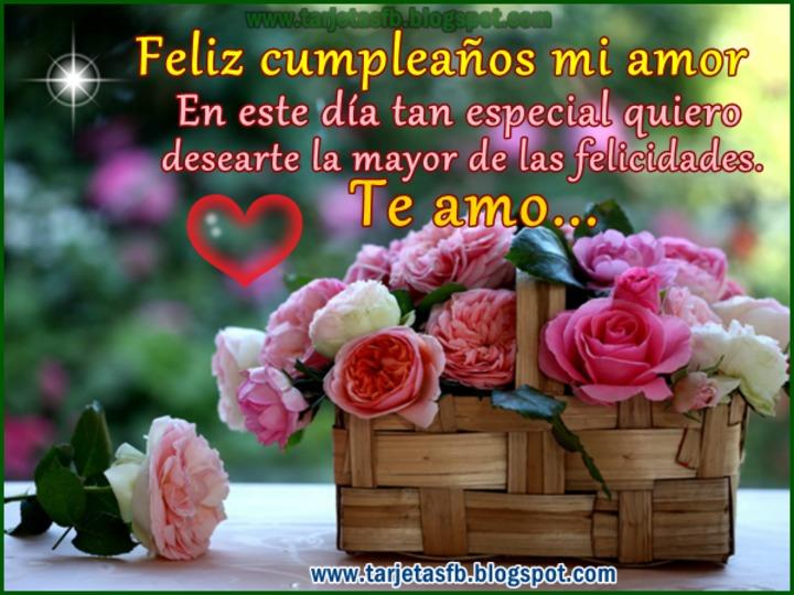 Felicitaciones De Cumpleaños Para Mi Amor