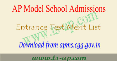 AP Model school application form 2018 for 6th class, 7th to 10th class