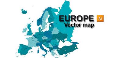 Vectores de mapas de Europa gratis  recursos WEB  SEO