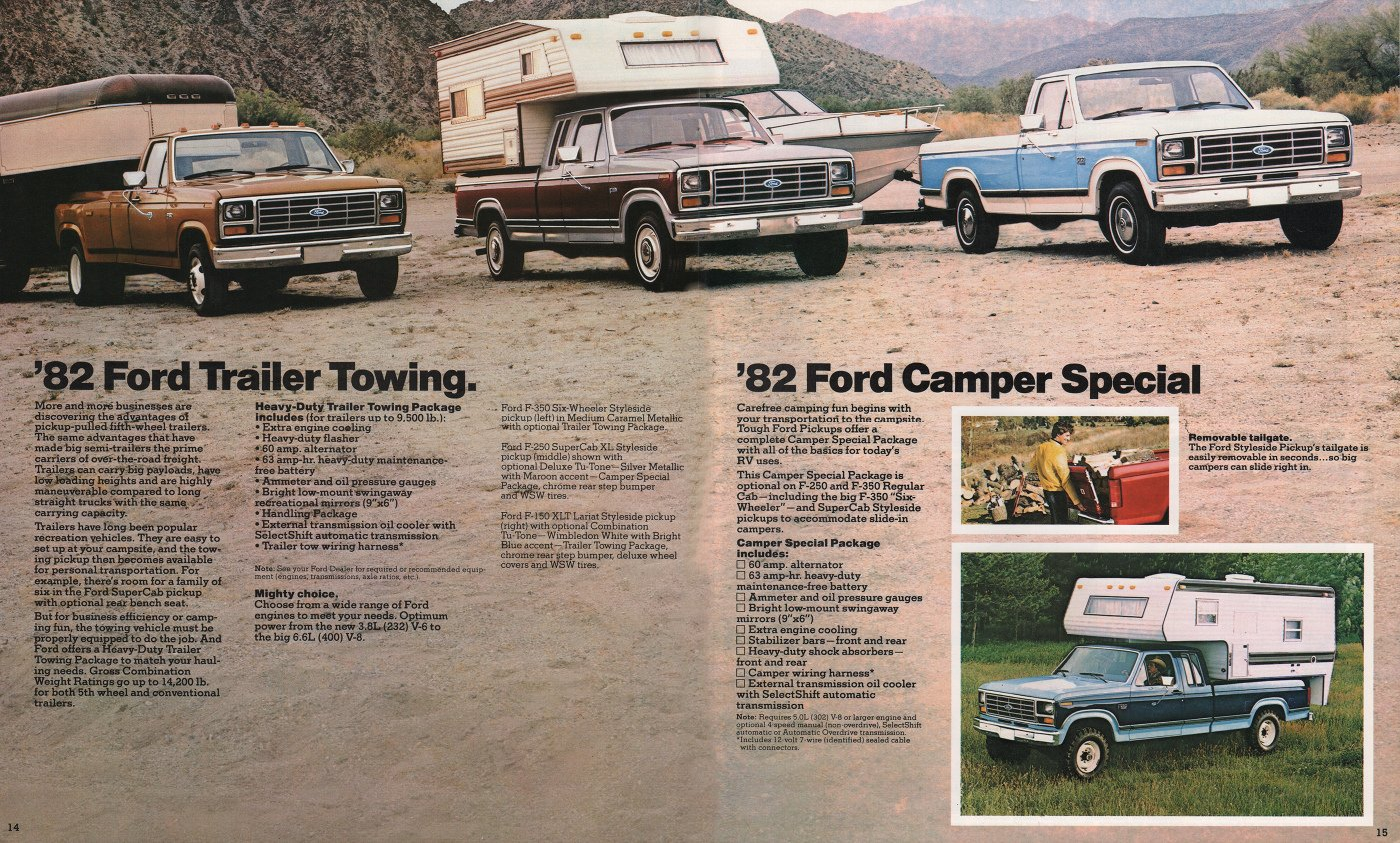 1986 Ford F150 4x4 Pick Up V8 1982 Sales Brochure Stuurman Air Cooled Volkswagen Super Beetle Wiring Harnesses From Mid Classic And Special Cars