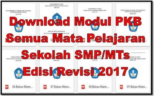 Download Modul PKB Semua Mata Pelajaran Sekolah SMP/MTs Edisi Revisi 2017