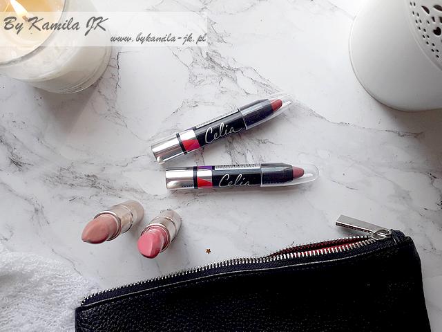 Celia przegląd kosmetyków do makijażu z linii ART szminki