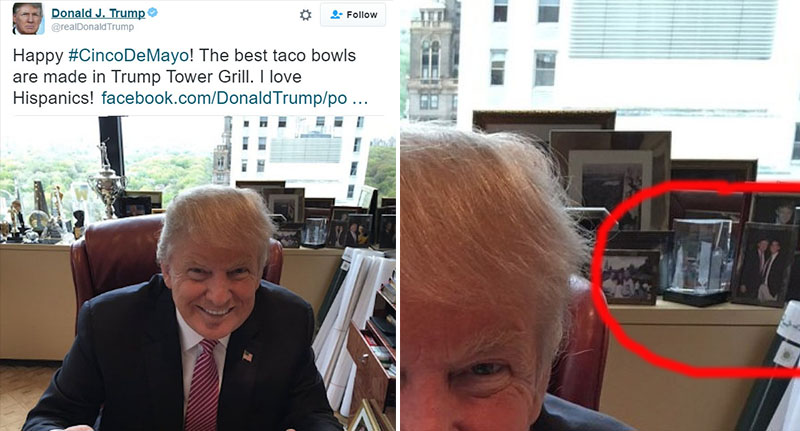 Recently Donald Trump Posted A Pic For Cinco De Mayo It Was Post About Loving Hispanics While He Eating Taco Bowl