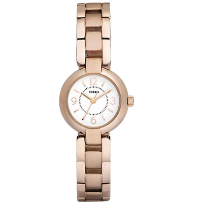 usa boutique fossil rose gold stainless steel watch es2742. Black Bedroom Furniture Sets. Home Design Ideas