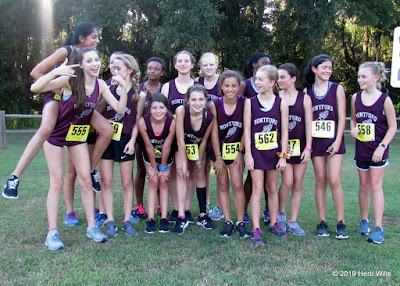 Montford Middle School girls' cross-country team, 2019