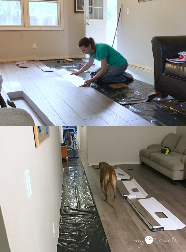 laying select surfaces laminate floor