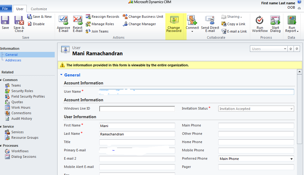 cRm Musings: Active Directory password reset via CRM 2011