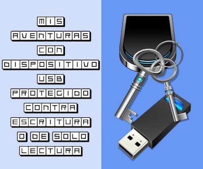 Dispositivo USB protegido contra escritura o de sólo lectura