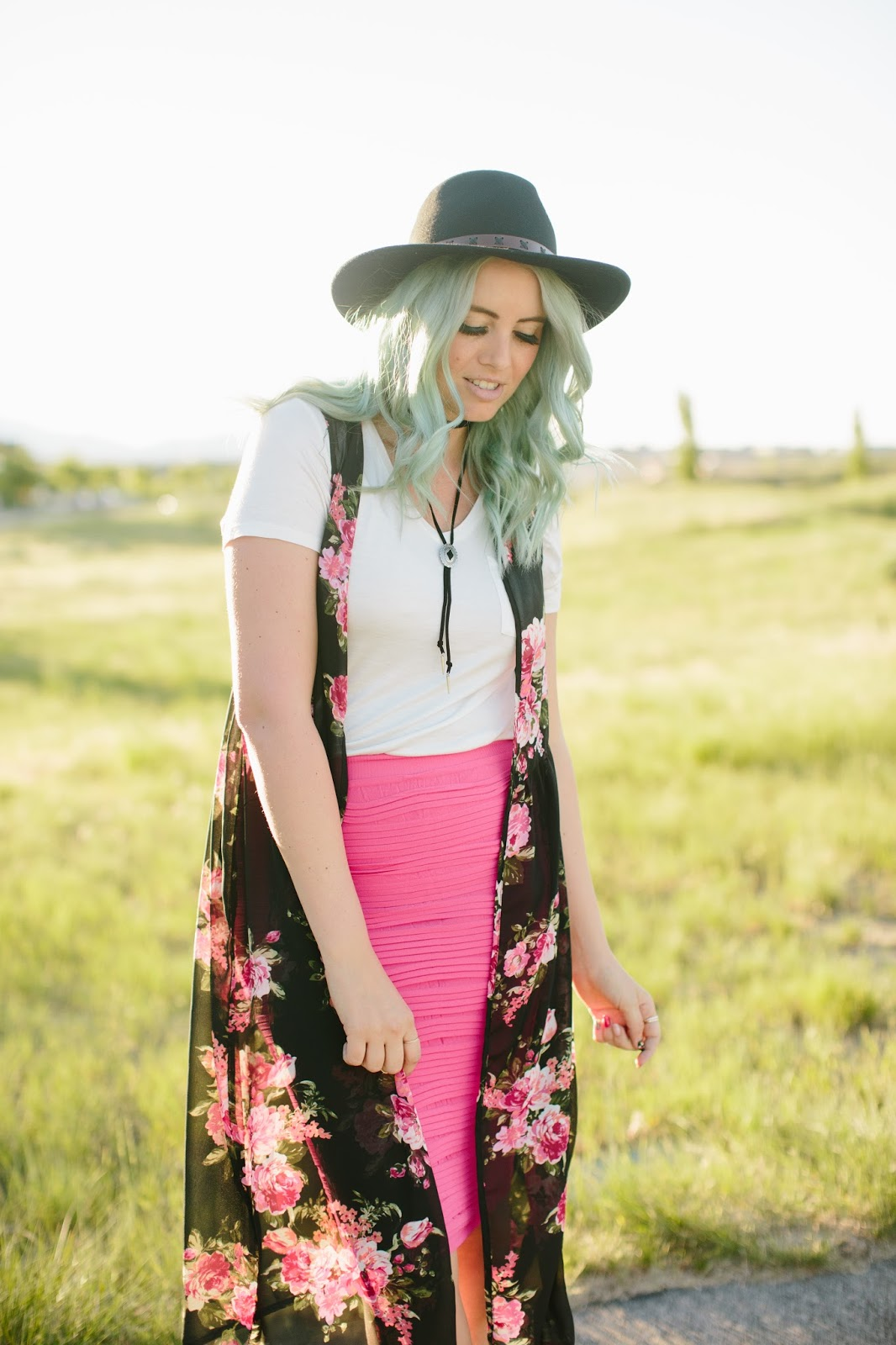 Boho Outfit, Spring Outfit, Floral Duster Vest