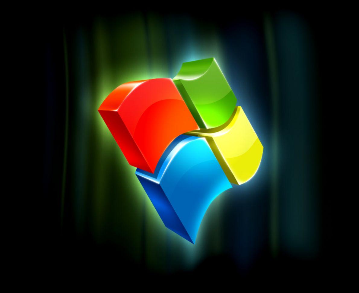 3D Logo Windows 7 Wallpaper