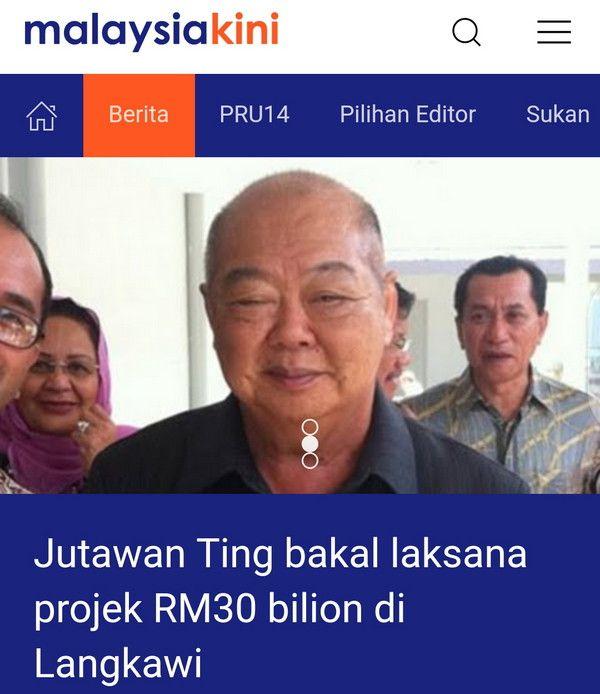 [Video]Jutawan Ting bakal laksana projek RM30 bilion di Langkawi