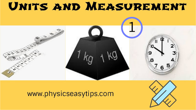 Basic Units and Measurement concept