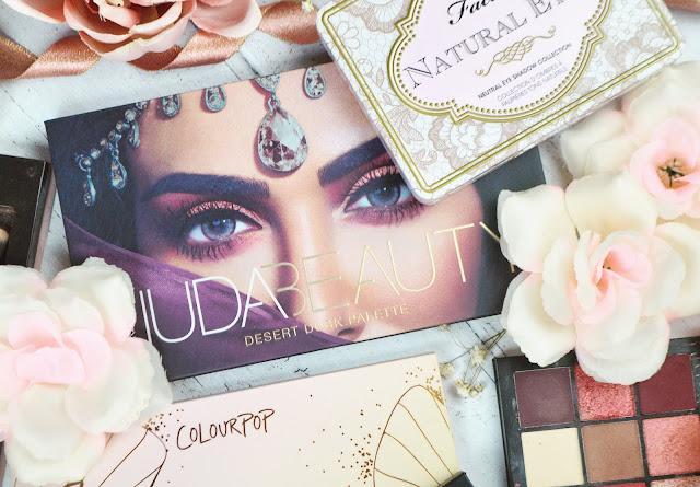 Lovelaughslipstick Blog Palette Flatlay Huda Beauty Colourpop