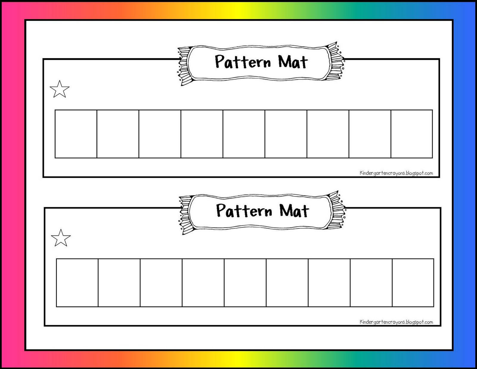 Kindergarten Crayons Math Mats Not For The Front Door