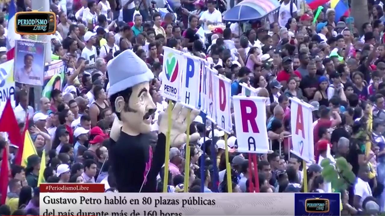 Así llenó Gustavo Petro las plazas públicas en todo el país. Presidió 80 manifestaciones y pronunció 160 horas de discursos