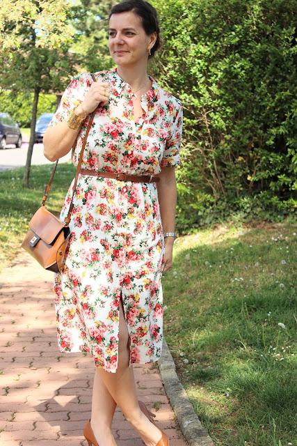 robe sézane, look du jour, les petites bulles de ma vie