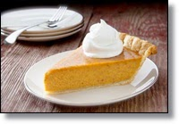 Picture of slice of pumpkin pie