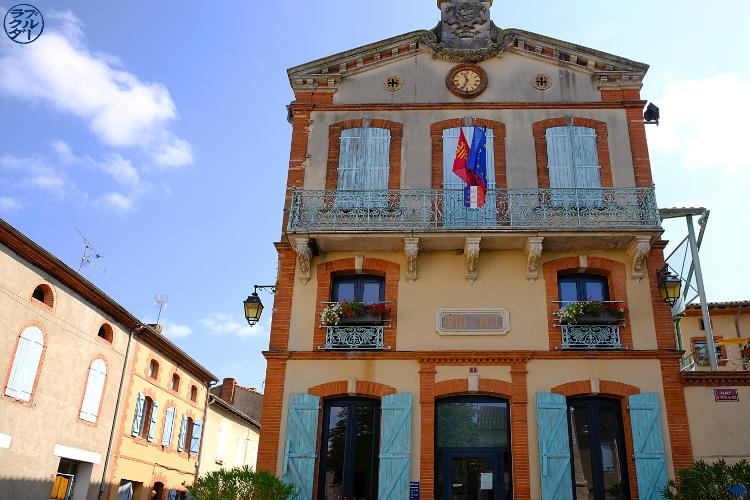 Le Chameau Bleu - Blog Voyage à Vélo sur le Canal des deux Mers - Hotel de Ville de Saint Porquier Dans le Tarn Et Garonne