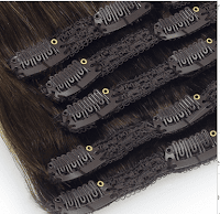 clip-in Lace weft hair extensions