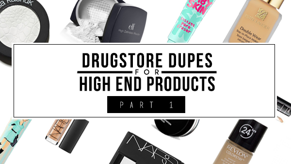 drugstore dupe high end brand nars estee lauder benefit maybelline