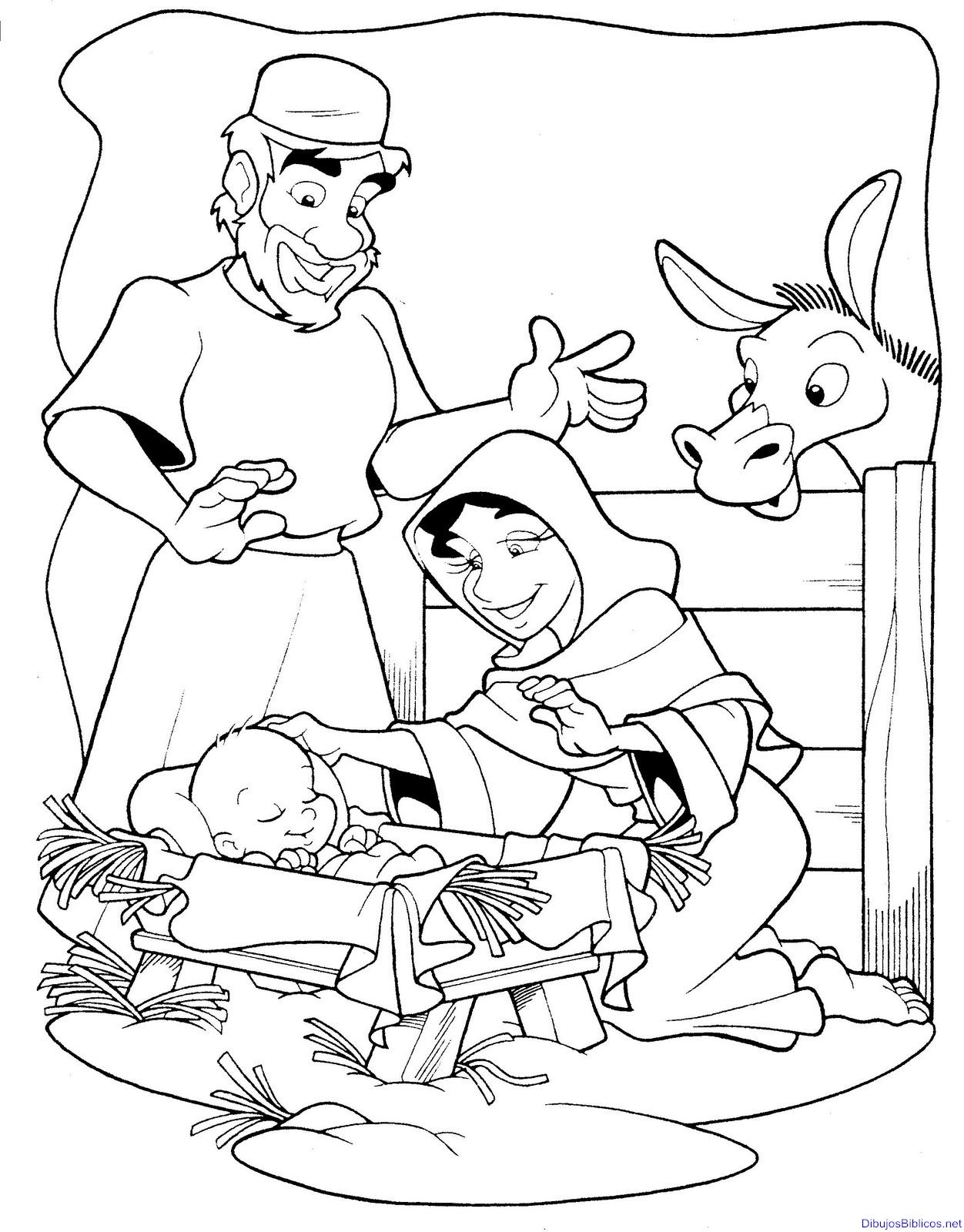 Nacimiento Jesus Para Colorear El Nacimiento De Jesus Imagenes