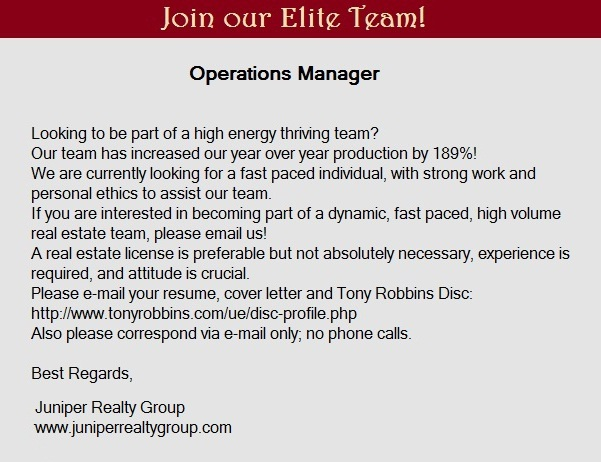 Become our Operations Manager in Boise Idaho **