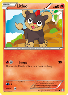 Litleo Steam Siege Pokemon Card